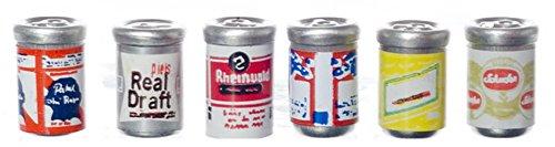 Melody Jane Maison de Poupées 6 Bière Boîtes de Conserve Ale Boîtes Miniature 1:12 Échelle Pub Boissons Accessoire Boutique