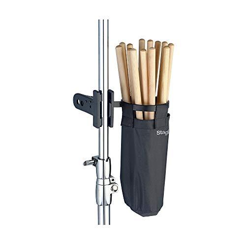 Tasche für Schlagzeugstöcke, mit Halter und Clip-System, von Stagg, DSHB10