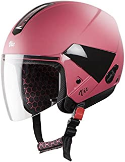 Steelbird Hi-Gn SBH-5 VIC Female Glossy Berry Pink with Plain Visor,540 mm