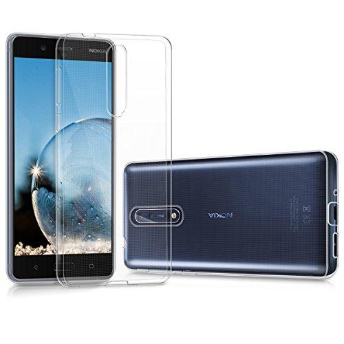kwmobile Funda Compatible con Nokia 8 - Carcasa de TPU para móvil - Cover Trasero en Transparente