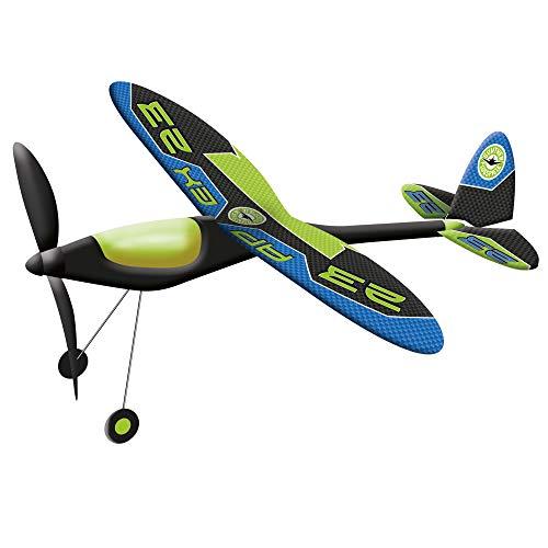 Paul Günther 1658 - Hochleistungs-Flugzeug Apex, inkl. Power-Gummimotor, folienbespannter Federstahlrahmen, Flugweite bis zu 100 m, ca. 49 x 50 cm groß, für Kinder ab 8 Jahren