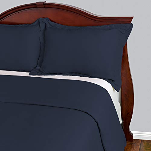 Best Duvet Covers Sets 3 Piece - 100% Microfiber - Most Durable Non-Rip Comforter Covers - Wrinkle-Free and Stain Resistant - Hypoallergenic Bedding Cover by Cosy House(Queen/Full, Navy Blue)