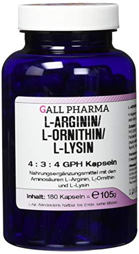 Gall Pharma L-Arginin/L-Ornithin/L-Lysin 4:3:4 GPH Kapseln 180 Stück