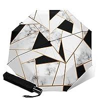 自動三つ折り傘、頑丈な自動開閉傘防風防水折りたたみ式トラベルアウトUV保護傘、ヴィンテージミツバチの巣箱