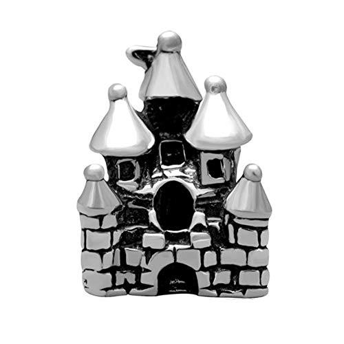 Andante-Stones 925 Sterling Silber Bead Charm * Schloss * Element Kugel für European Beads + Organzasäckchen