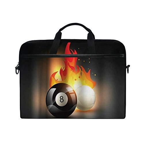 SIONOLY 15-15.4 inch Laptop Tasche,Billard Snooker Brennen Thema Sportliebhaber,Neue tragbare Computer Messenger Satchel Aktentasche Arbeit Umhängetaschen 15-15.4