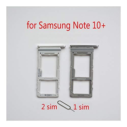 JLZK Buen Estado Titular de la Tarjeta SIM Bandeja SD For Samsung Galaxy Nota 10+ N975 Nota 10 Nota 10 + Ranura SD Adaptador de Tarjeta de Vivienda Micro Plus de teléfono Original Tarjetas.