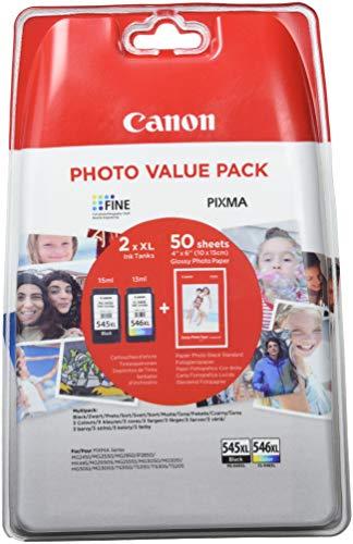 Canon Cartucce d'Inchiostro PG545XL e CL546XL, Nero/Multicolore