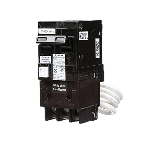 Siemens QF240A Ground Fault Circuit Interrupter, 40 Amp, 2 Pole, 120/240 Volt, 10,000 AIC, Black