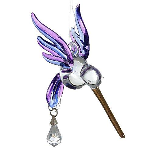 Fantasy Glass Suncatcher Kolibri, Violett