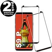rongqdz Galaxy S9 Plus Panzerglas Schutzfolie, [2 Stück] [9H Härtegrad] [Keine Blasen] [Anti-Fingerabdruck] [Anti-Kratzen], Gehärtetem Glas Displayschutzfolie für Samsung Galaxy S9 Plus