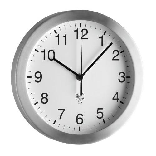 TFA Dostmann 98.1091, Orologio da parete, colore: Grigio metallo [Importato da Germania]