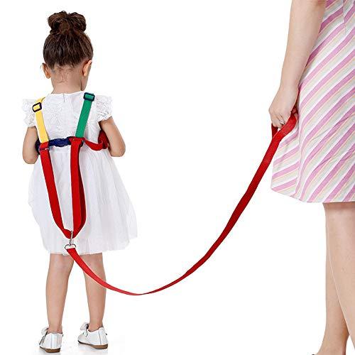 Suntapower Baby Antiverlust Gürtel,2 in 1 Kinder Walking Sicherheit Geschirr Handgelenk Leine Strap für 0-5 Jahre Kinder (Gelb/Grün)
