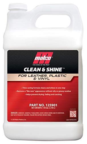 Malco Clean & Shine Interior Car Cleaner and Dressing – Restore Leather, Plastic and Vinyl Surfaces in Your Vehicle/Clean, Condition and Protect in 1 Simple Step / 1 Gallon (125901)