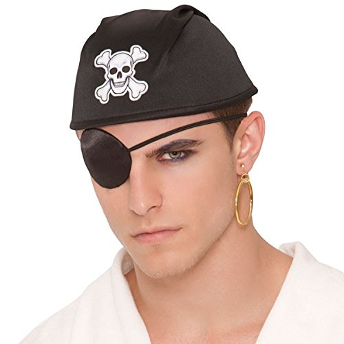 Costume Culture Mens Pirate Patch and Earring