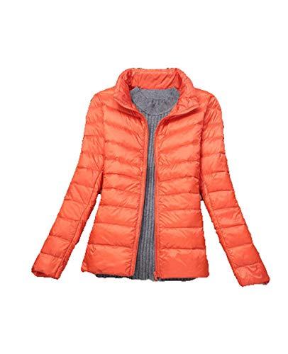 N / A warme Damen Winter Jacke Parka Mantel Stepp Kurzjacke gefüttert-Orange_7XL