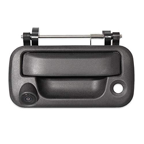 EWAY Tailgate Handle Backup Rear View Camera for Ford F150 2004-2016 Super Duty F250 F350 F450 F550 2008-2016 Explorer Sport Trac Lincoln Mark LT Pickup Truck Aftermarket Reverse Black Camera