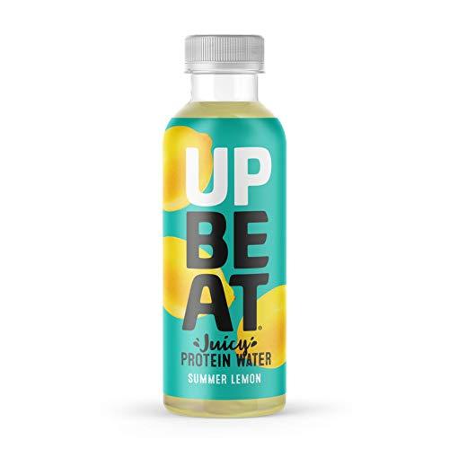 UPBEAT Juicy Protein Water 12x 500ml | High Protein, Zero Sugar, Energising B Vitamins | Summer Lemon
