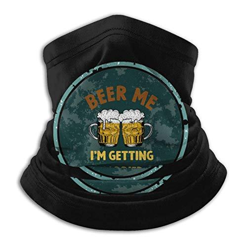 LisaArticles Windproof Face Shield,Beer Me I 'M Getting Married Bufanda Mágica, Bandanas De Poliéster 12 En 1 para Correr Y Caminar,26x30cm