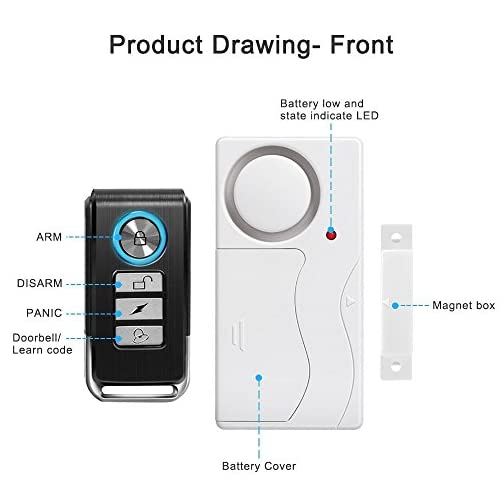 Wsdcam Door Alarm Wireless Anti-Theft Remote Control Door and Window Security Alarms 5