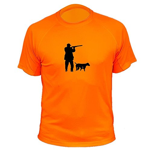 T Shirt jagdmotiv Vorstehhund für Mann Jagd Geschenke (20182, Orange, XL)
