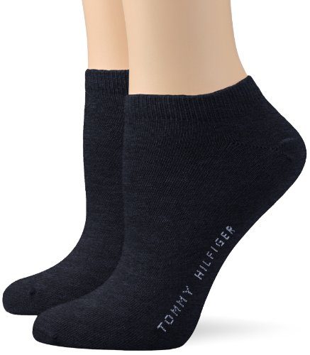 Tommy Hilfiger Damen Sneaker - calcetines para mujer, 2 Pack, Vaquero (Jeans)