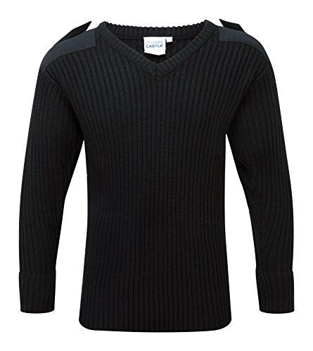 Castle Clothing V–collo Combat jumper, nero, 120V