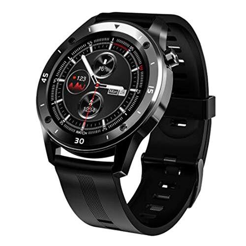 Baalaa F22 GPS Watch Pantalla de prensa completa Deportes Hombres Mujeres Smartwatch Frecuencia cardíaca Presión arterial Fitness Tracker IP67 (negro)