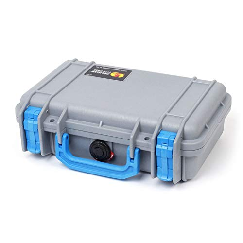 Pelican Colors Series. Silver and Blue Pelican 1170 case with Foam.