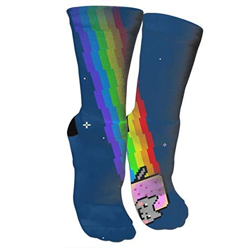 Cute Nyan Cat Funny Athletic Socks Best Socks for Women and Men Running Travel