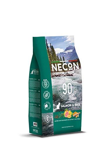 Necon Pet Food Natural Wellness Adulto Salmone & Riso 1.5 kg, Cibo per Gatti Adulti, Crocchette Low Grain ricche Proteine e Omega 3, qualità Premium, Senza Conservanti ne Coloranti, Made in Italy