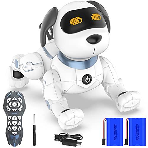 Ok K! okk Fernbedienung Hunderoboter, 2020 Neu Ferngesteuerter Hund mit Singen, Tanzen, Sprechen, intelligenten Früherziehung Spielzeug für 3-12 Jahre Jungen Mädchen Geburtstag