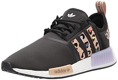 adidas Originals Women's NMD_R1 Sneaker, Black/St Pale Nude/Purple Tint, 6