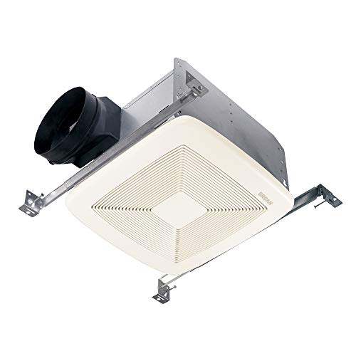 """Broan-Nutone QTXE110 Ultra-Silent Ventilation Exhaust Fan for Bathroom and Home, ENERGY STAR Certified, 0.7 Sones, 110 CFM , White , 6"""" Round"""