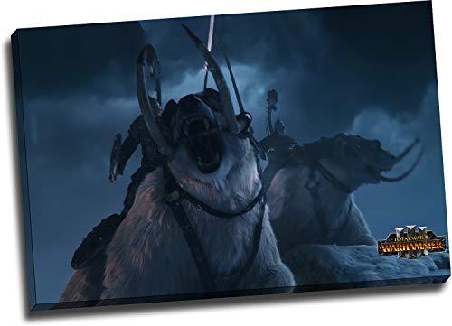 Trelemek Total War Warhammer III - Stampa su tela, 91,4 x 61 cm, decorazione da parete per videogiochi, decorazione da parete per soggiorno, camera da letto, pronta da appendere