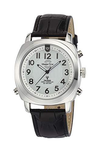 Master Time Funk Quarz Sprechende Herren Uhr Analog mit Leder Armband MTGA-10632-20L