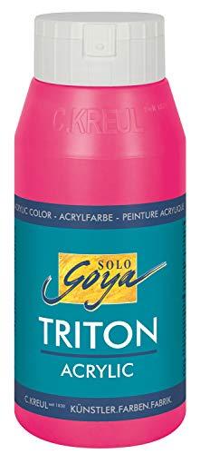 Kreul 17063 - Solo Goya Triton Acrylic, vielseitig einsetzbare Acrylfarbe in Studioqualität, 750 ml Flasche, pink