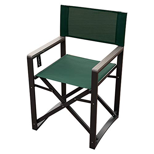 PatioPost Director Chair Foldable Bar Height Foldable Makeup Artist Chair Aluminum Padded Portable Heavy Duty Comfort Sturdy with Armrest, Supports 300lbs,Green.