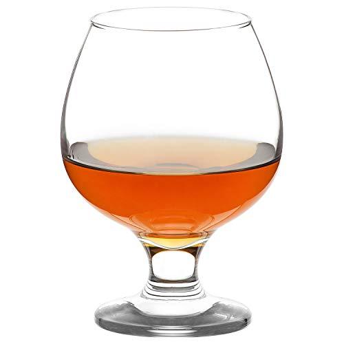 LAV Brandy Snifters 6-teiliges Cognac-Gläser-Set, transparent, klein, perfekt für Scotch & Bourbon & Whisky und Spirituosen, kurze Bier-Verkostungsgläser, bleifrei