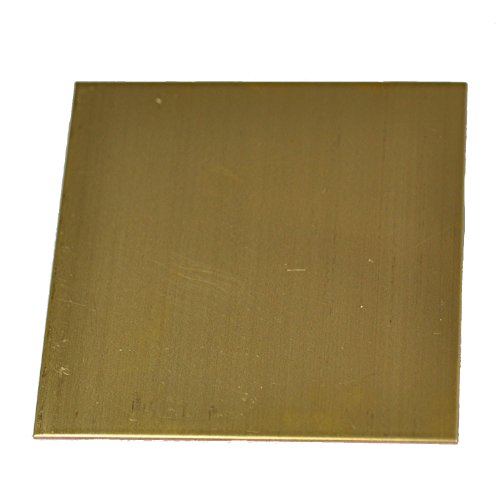 RMP 260 Brass Sheet, 12 Inch x 12 Inch x 0.032 Inch Thickness