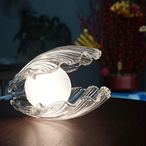 SUMGREEN LED Stimmungslicht Shell Pearl Nachtlichtlampe für Wohnzimmer Schlafzimmer, Tischlampe Nachtlampe für Home Deco Dekoration