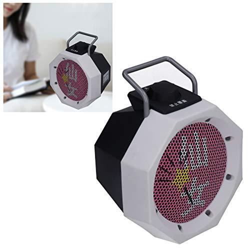 Clasken Calentador eléctrico de 500 vatios, Calentador de Ventilador, para Dormitorio de Oficina, Dormitorio en casa