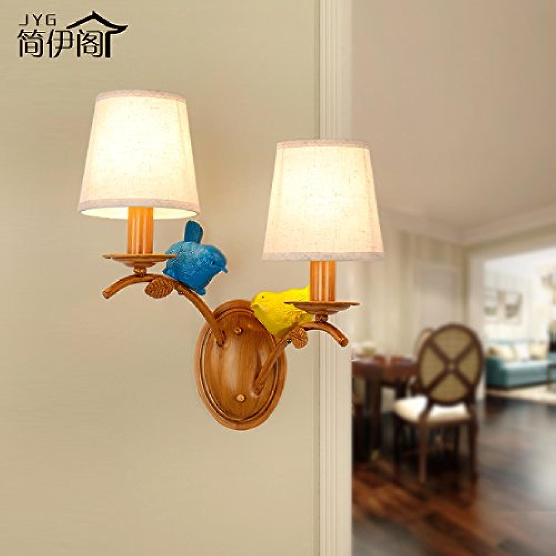 StiefelU LED Wandleuchte nach oben und unten Wandleuchten Rustikal antik Wandlampen Schlafzimmer mit Vogel Studie Nachttischlampe off road bar Korridor Wandleuchten, 3003-2 W
