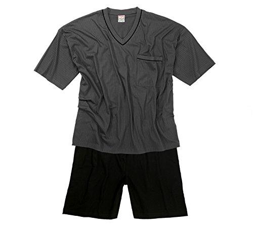 ADAMO Schlafanzug Kurzarm – in dunkelgrau/Anthra – größe Größen – bis 9XL