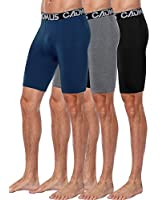 Cadmus Men's Compression Shorts 3 Pack, Cool Dry Athletic Baselayer Workout Underwear Pockets,5001,Black & Grey & Navy Blue,X-Large