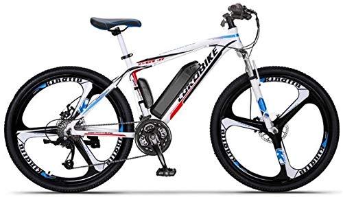 GMZTT Unisex BICICLEY Adulto Bicicletas de 26 Pulgadas de montaña eléctrica, batería de Litio de 36V, Marco de Aluminio de aleación de Campo a través eléctrico de la Bicicleta, 27 de Velocidad