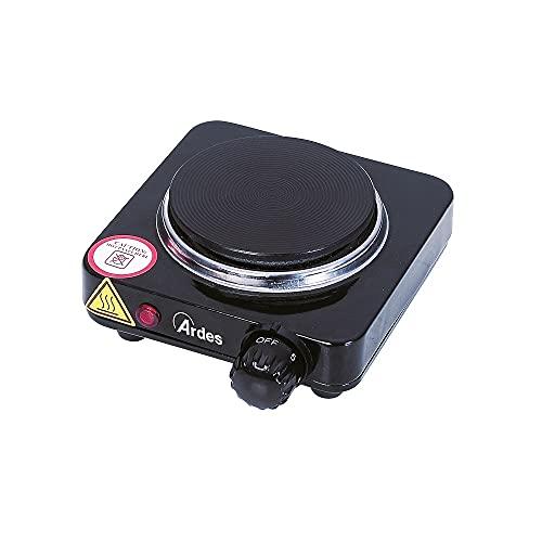 Ardes AR1F18 Fornello Elettrico TIKAPPA F18 in Acciaio Verniciato Diametro Piastra 10,5 cm in Ghisa con Termostato