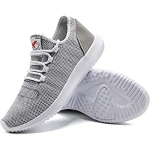 CAMVAVSR Men's Sport Shoes Non Slip Lightweight Breathable Mesh Soft Sole Run Walk Tennis Athletics Sneakers for Men Gray Size 13 Squat Weight Lifting Treadmill Shoes
