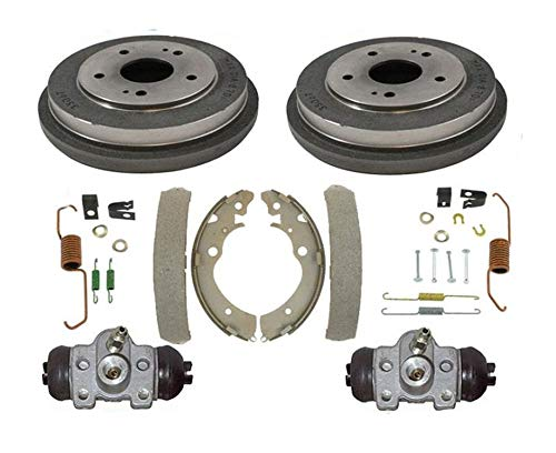 Rear Drums Brake Shoes Spring Kit Wheel Cylinders for Honda CRV 1997-2001 6pc