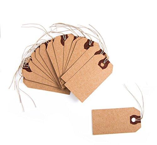 Logbuch-Verlag 10 bruine kraftpapier DIY geschenkhangers met snoer prijs etiketten natuur tafelkaarten naamborden verpakking geschenken knutselen